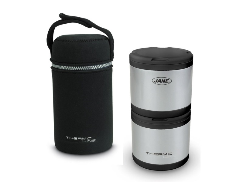 Thermos jan con 2 contenitori termici per solidi da 500cc for Contenitori termici per alimenti